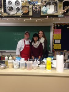 Ms. Lee had a guest Chef from the Art Institute come and visit her Senior Foods classes today. He created and demonstrated a delicious Italian pasta dish for us. Chef Guy talked to the students about careers in the culinary field. Thanks Ms. Lee!