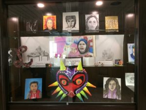 Ms. Turpin connected with Mr. Hoff at the School Board Office to put the art work of LSS students on display in their newest display case!