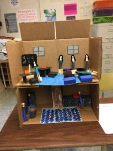 ...a cardboard Residential School...