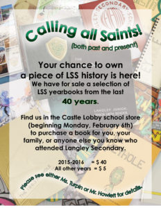Old yearbooks sales poster
