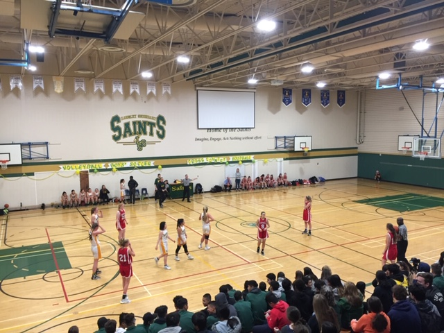 Merveilleux At The End Of Th Pep Rally, The LSS Senior Girls Basketball Team Played The  DW Poppy Red Hawks In Front Of A Full Set Of Bleachers U2013 What A Great  Atmosphere ...